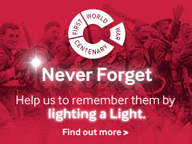 Never forget - Help us remember by lighting a light